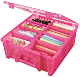 Art Bin Double Deep Super Satchel, Translucent Raspberry