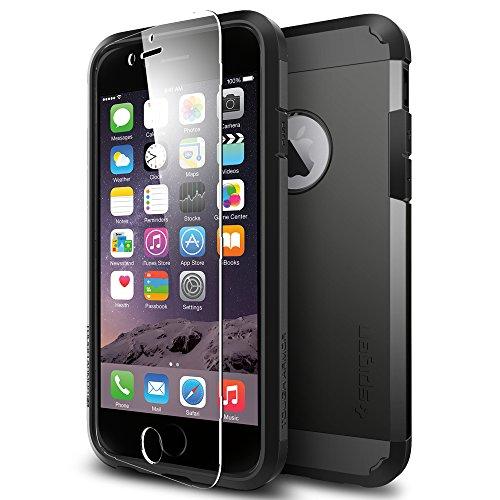 iPhone 6 ケース, Spigen® [全面 保護 ケース] タフ・アーマー FX Apple iPhone 4.7 (2015年 モデル) (国内正規品) (スムース・ブラック SGP11278)