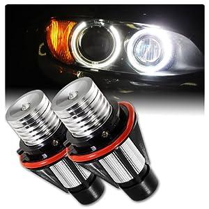 BMW 5/6/7 series 6W Ultra Bright 7000K LED Angel Eye Halo Bulbs