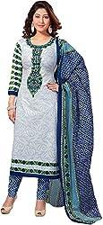 Fashion Dream Womens Cotton Dress material ( zarmar blue_Blue_Freesize )