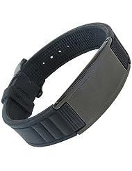 Original IonTopiaTM HI-PRIME Limited Editions Magnetic Bracelet with Silicone Strap Black Strap - Black Tag