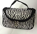 Fashion Zebra Pattern Lady Makeup Bag Women Portable Cosmetic Toiletry Bags Travel Storage Organizer by Unknown