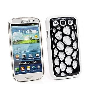 3D Acid Look Handy Gehäuse für Samsung Galaxy SIII i9300 Schwarz Weiß