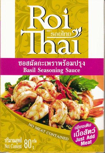 Roi thai basil seasoning sauce 80g no meat contained for Ar roi thai cuisine