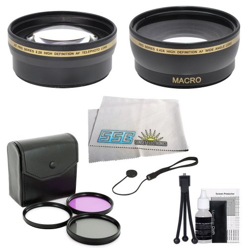 Essential Lens Kit For Nikon D7000 D7100 D600 D800 D800E D5300 D5200 D5100 D3200 D3100 Digital Slr Camera Which Have Any Of These (18-55Mm, 55-200Mm, 24Mm F/2.8D, 28Mm F/2.8D, 35Mm F/1.8G, 35Mm F/2.0D, 40Mm F/2.8G, 50Mm F/1.4D, 50Mm F/1.8D & 85Mm F/3.5G)
