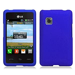com blue hard cover case for lg 840g cell phones