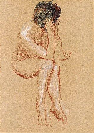 "Kunstdruck, Poster ""Nude sitting"""