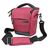 Evecase Red DSLR Camera Holster Bag with Strap for Fuji FinePix S9400W, S9200, S1, S8200, S4200, S2950, S2800HD, S4500, S4800, S6800, S8400W, S8400, SL300, S3200, S4000