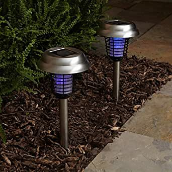 driver purple and white light led solar light mosquito
