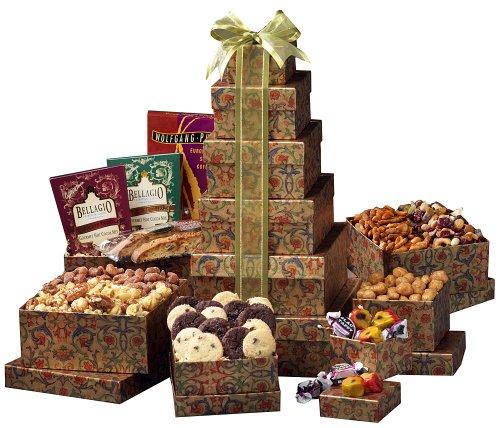 Broadway Basketeers Ultimate Happy Birthday Gourmet Gift Tower