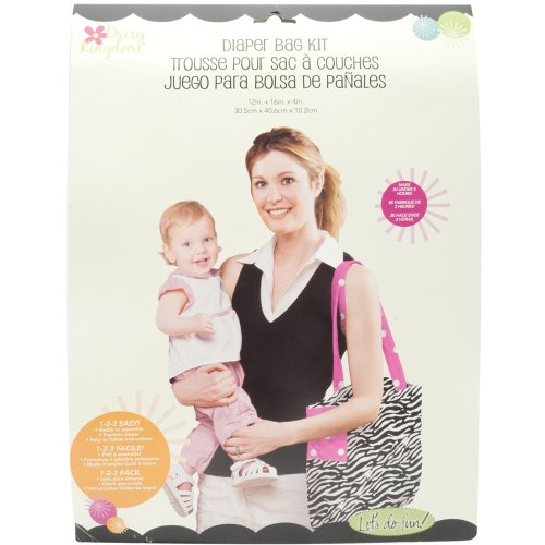 Daisy Kingdom City Tot Diaper Bag, Zebra and Polka Dot, Black
