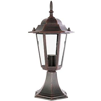 lanterne sur pied pour l 39 exterieur l 39 exterieur a e rouille en aluminium avec. Black Bedroom Furniture Sets. Home Design Ideas