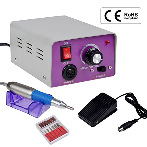 CO-Z Professional Electric Nail Drill Machine Kit for Acrylic Manicure Pedicure (purple) (Manicure Drill Kit compare prices)