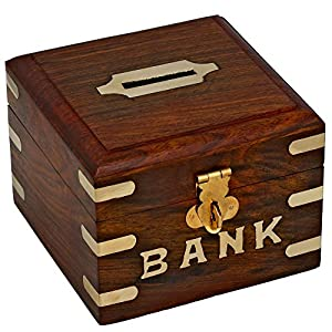 Handmade wooden piggy bank decoration unique keepsake Decorative piggy banks for adults
