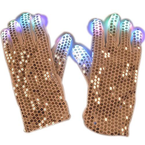 Novelty Dance LED Flashing Finger Lighting 7 Modes Colors Light Show Halloween Christmas Gift