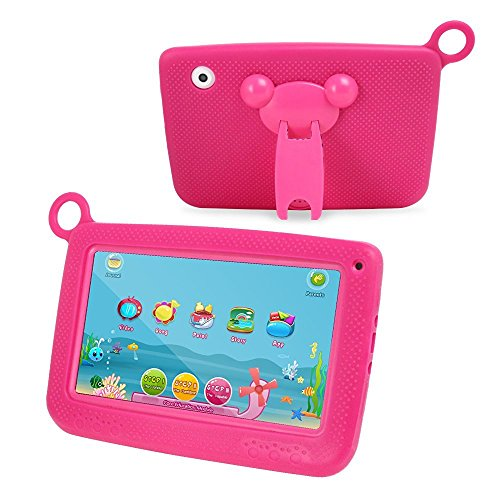 Ogima Kid Pad 7 Inch Android Tablet Touch Kids Tablet 7'' Quad Core with Games Dual Cameras Wi-Fi Google Play Store w/IWAWA Learning APP 1024 X 600 HD Resolution 8GB Storage (Tablet With Apps compare prices)