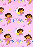 Dora The Explorer 'Play' Fleece Blanket 120cm x 150cm (4' x 5' Approx) - 100% Official Dora The Explorer Product - Great Children's Gift Idea
