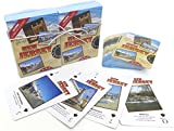 Atlantic City, , Souvenir Playing Cards , Jersey Shore Vacation Gift. Card Faces Feature Multiple Landmarks, Oustsanding Tourist Gift. The Two Deck Set Includes a Silver Gift Ribbon