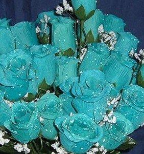 BuyToday 84 Silk Rose Flowers W Raindrops