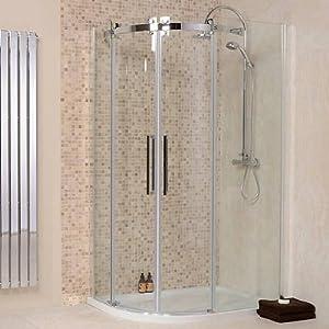 Quadrant shower enclosure cubicle offset walk in sliding for 1200 shower door 8mm glass