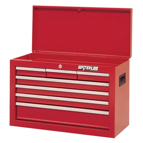 """Waterloo Sch-267Rd-F 7-Drawer Red Chest- Dimensions 26"""" X 12"""" X 17.5"""""""
