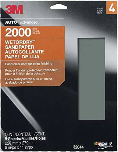 "3M 32044 Imperial Wetordry 9"" X 11"" 2000 Grit Sheet back-51905"