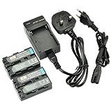 DSTE 2pcs NP-FM500H Rechargeable Li-ion Battery + Charger DC01U for Sony Alpha SLT-A57, A58, A65, A65V, A77, A77V, A99, CLM-V55, DSLR-A100, A200, A300, A350, A450, A500, A550, A560, A580, A700, A850, A900 Digital Cameras