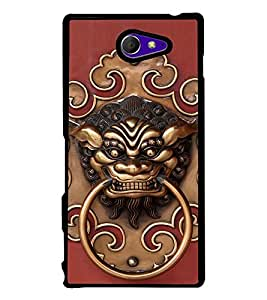 Fuson Premium 2D Back Case Cover Fierce Bull With Pink Background Degined For Sony Xperia M2 Dual D2302::Sony Xperia M2