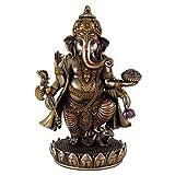 インドの神様 商売の神様 ブロンズ ガネーシャ像 21cm Ganesh Idol Cold cast Bronze Sculpture Hindu God