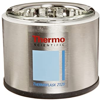 Thermo Scientific 2129 1L Thermo Flask Shallow Wide Mouth Benchtop Liquid Nitrogen Container Flask