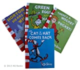 Dr Seuss 4 book Collection: The Cat in the Hat Comes Back / Green Eggs and Ham / Horton Hears a Who! / Theres A Wocket In My Pocket! Rrp £39.96
