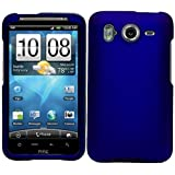 Blue Durable Protective Rubberized Crystal Hard Case Cover for AT&T Wireless HTC Inspire 4G Android Smart Phone
