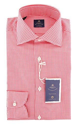 new-luigi-borrelli-red-check-extra-slim-shirt