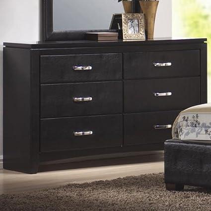 Coaster Home Furnishings 201403 Casual Contemporary Dresser, Black