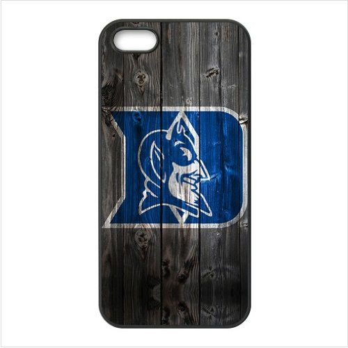 iPhone 5 & 5s Case - Wood Look NCAA Duke Blue Devils Accessories Apple iPhone 5 & 5s Waterproof TPU Designer Hard Case Cover at Amazon.com