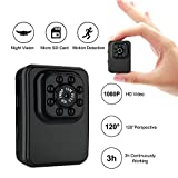 Mini Hidden Camera Small Camera 1080P HD Motion Detection IR Night Vision 16GB TF Card Included Portable Sports Camera Supports Snapshot, Nanny Cam