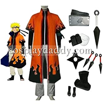 Naruto 6th Hokage Naruto Uzumaki Cosplay Costume new