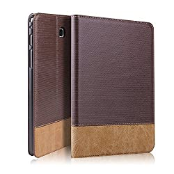 GoldCherry Samsung Galaxy Tab S2 9.7 Case - Auto Sleep/Wake, Card Pocket Folio Leather Case Cover for Galaxy Tab S2 Tablet 9.7 inch, SM-T810 T815 (Galaxy Tab S2 9.7 (T810) , Dark Brown )