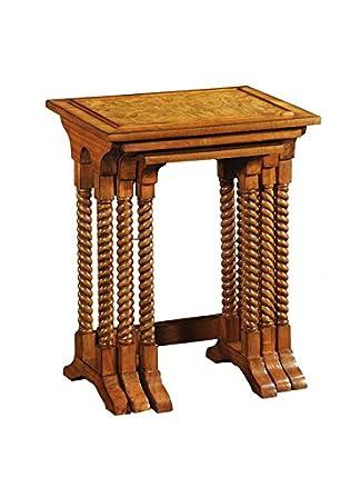 Lock Stock e corpo Hampton di 3tavolini, legno, marrone