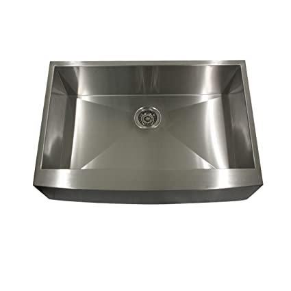 Nantucket Sinks APRON302010SR-16 30-Inch  Pro Series Single Bowl Undermount Apron  Kitchen Sink, Stainless Steel