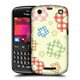 Head Case Gingham Patterns In Floral Back Case Cover For Blackberry Curve 9360