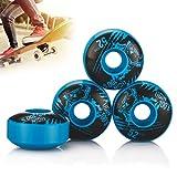 Tera® ugin スケートボード ウィール ホイール Skateboard Wheel 4個セット 硬さSHR-100A 弾力性75% 直径52mm 拭き布つき