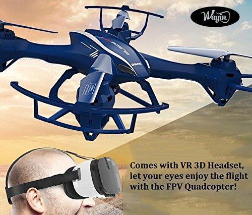 WayIn-U818S-Wifi-UFO-RC-Headless-Drohne-24G-4CH-6-Achsen-Live-bertragung-FPV-Quadrocopter-Mit-HD-Kamera-und-VR-3D-Brille-Headset