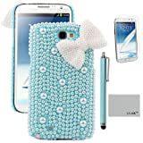 Pandamimi ULAK(TM) Light Blue Dexule Fashion Sweety Girls Hand Made 3D Pink Full Pearl And White Butterfly Hard...
