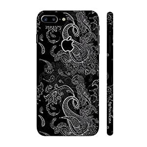 Enthopia Designer Hardshell Case Elegance with Paisley Back Cover for Apple Iphone 7 Plus With Apple Hole