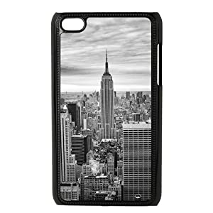 Paradise Life Design Black White New York Panorama Art iPod Touch 4th Generation Case Cover Nice Hard Plastic Case Cover