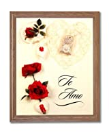 Motivational Poem I Love You Mom Hispanic Spanish Wall Picture Oak Framed Art Print