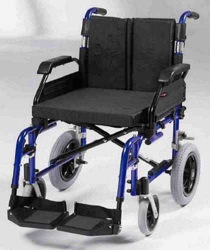 Drive Medical XSAWCTS20BLUEST Rollstuhl aus Aluminium, 50,8 cm Sitz, mit Handbremsen, Blau