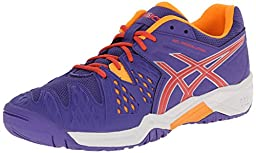 ASICS GEL Resolution 6 GS Tennis Shoe (Little Kid/Big Kid),Lavender/Hot Coral/Nectarine,5.5 M US Big Kid