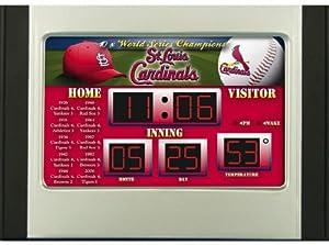 St. Louis Cardinals MLB Scoreboard Desk & Alarm Clock by Caseys